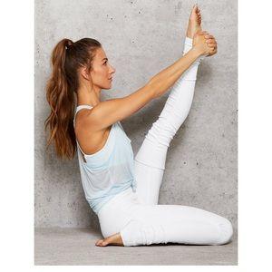 Women's Alo yoga goddess ribbed leggings white new